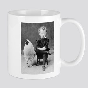 Funny Vintage French Photo Chicken Smoking Ki Mugs
